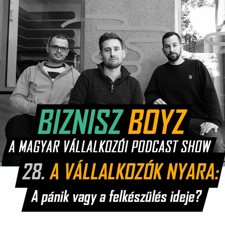 28. A vállalkozók nyara: a pánik vagy a felkészülés ideje? | Biznisz Boyz Podcast