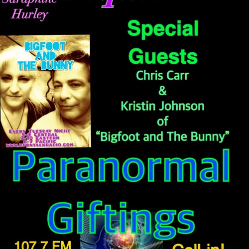Infinite Inquisition Paranormal Giftings with Criss Carr & Kristin Johnson they'll come on after an hour for the last half