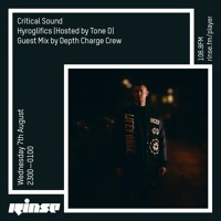 Critical Sound no. 69 | Hyroglifics (hosted by Tone D) + Depth Charge Crew | Rinse FM |  07.08.19