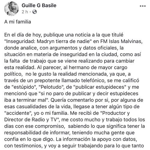 Editorial Guillermo x amenazas