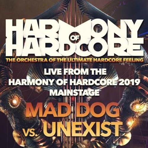 Mad Dog Vs Unexist -liva at Harmony Of Hardcore2019