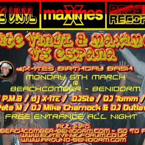 Elite Vinyl & Maximes Vs Espana - djX-ite's Birthday Bash Part 3 @ Beachcomber 2007 Benidorm