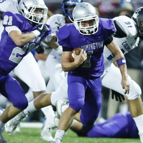 H.S. football podcast, featuring Bloomington South's Maveric Thiery