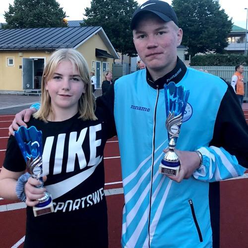 Jessica Björksten ja Aatu Kangasniemi Uusimaan urheilutoimituksen haastattelussa