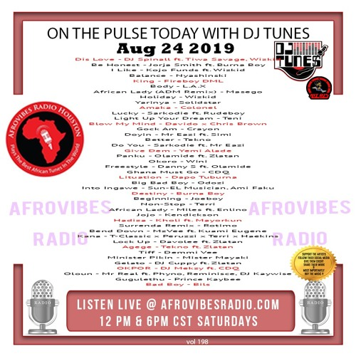 Vol 198 Afrovibes radio Mix Aug 24 2019