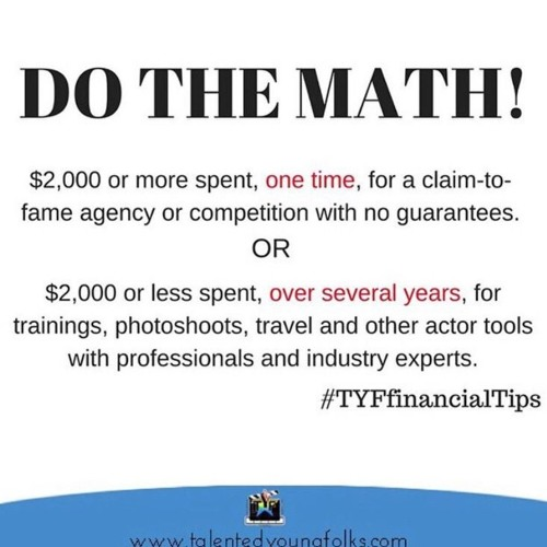 Do The Math, Save Your Money!