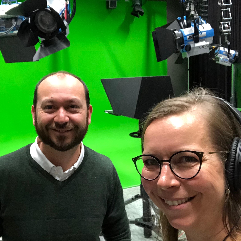 Guidet tur gjennom UiAs store filmstudio på Mediesenteret