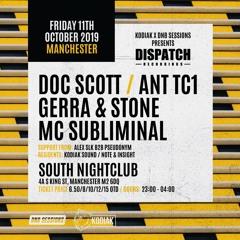 Doc Scott - Dispatch Manchester - Promo Mix, October 2019