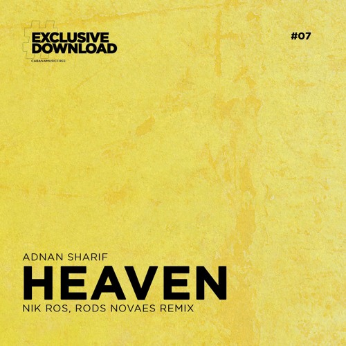 FREE DOWNLOAD: Adnan Sharif - Heaven (Nik Ros, Rods Novaes Remix) snippet