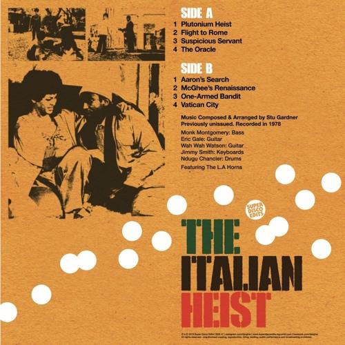 Unissued tv Soundtrack The Italian Heist 1978