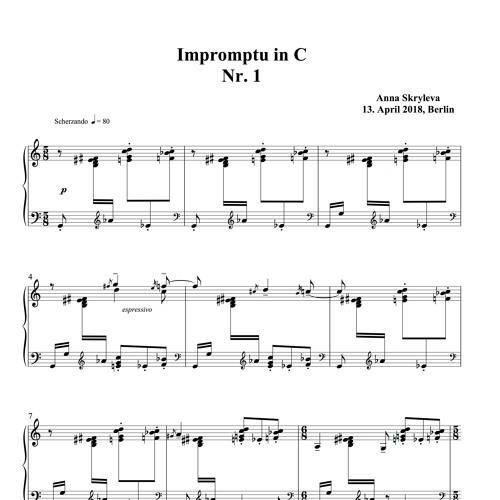 "Anna Skryleva Impromptu in C Nr. 1 ""Scherzando"""