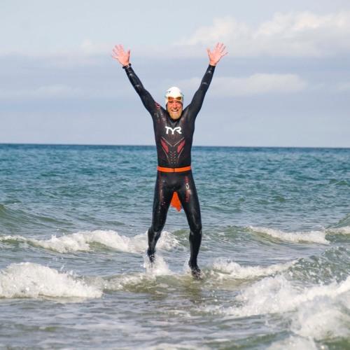 Lars svømmer Danmark rundt