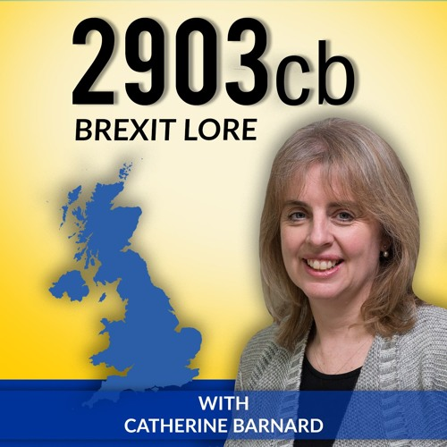 @2903 No 16 Professor Catherine Barnard #Brexit & why it takes two to Tango