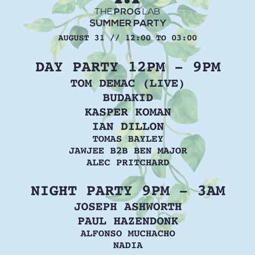 The Prog Lab Summer Party Aug 2019