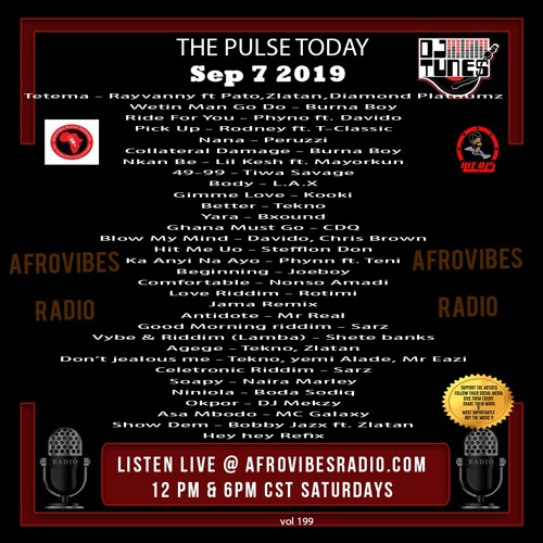 Vol 199 - Afrovibes radio Sept 7 2019