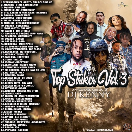 Top Striker Vol. 3 (Dancehall Mixtape 2019 Ft Alkaline, Squash, Chronic Law, Vybz Kartel, Govana)