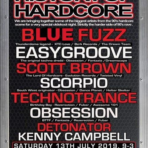 DJ Smurf/Blue Fuzz @ History OF Hardcore. Glasgow, Scotland - 13/07/2019