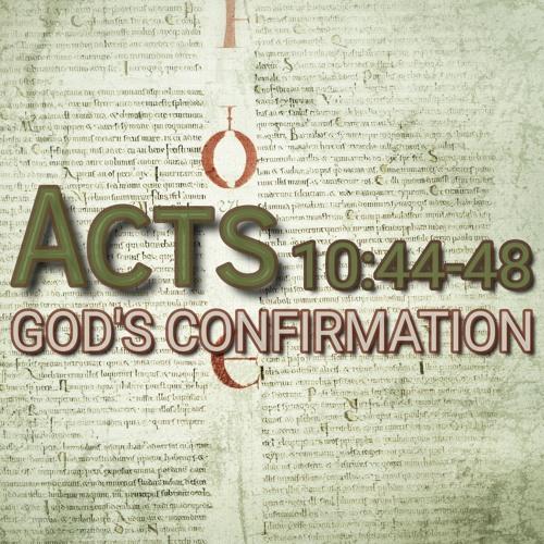 Acts 10:44-48 (preacher: Keith Cooper)