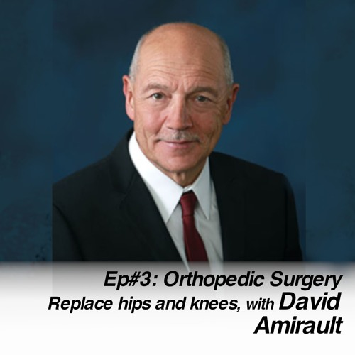 Orthopaedic Surgery   Replace hips and knees, with David Amirault