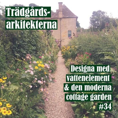 Designa med vattenelement & den moderna cottage garden