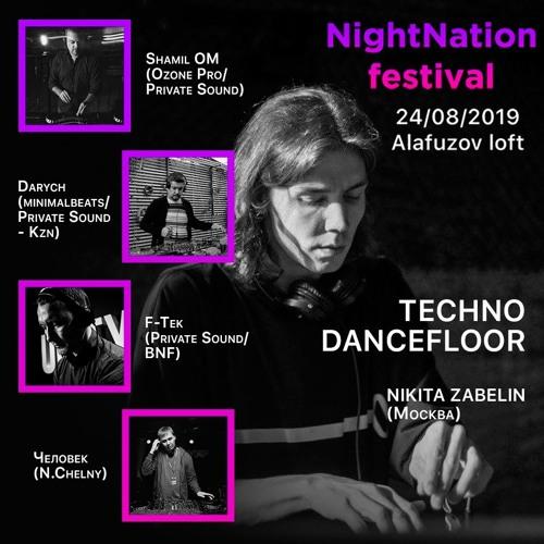 Robodanz (OM) Podcast 24 live Zabelin warm up @ Night Nation 24.08.2019
