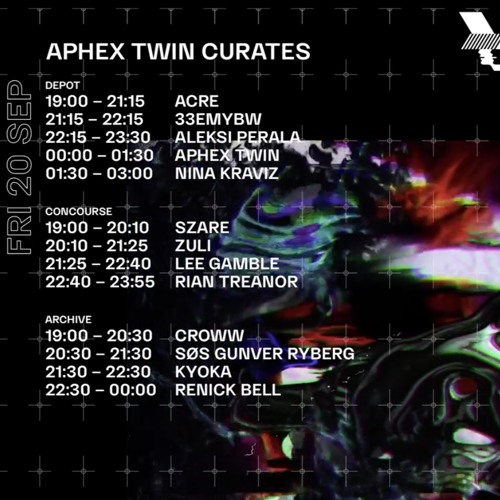 Nina Kraviz @Aphex Twin Curated event at Depot. Warehouse Project Manchester. 20.09.2019