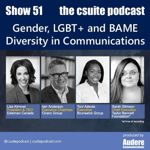 Show 51 - Gender, LGBT+ and BAME Diversity in Communications