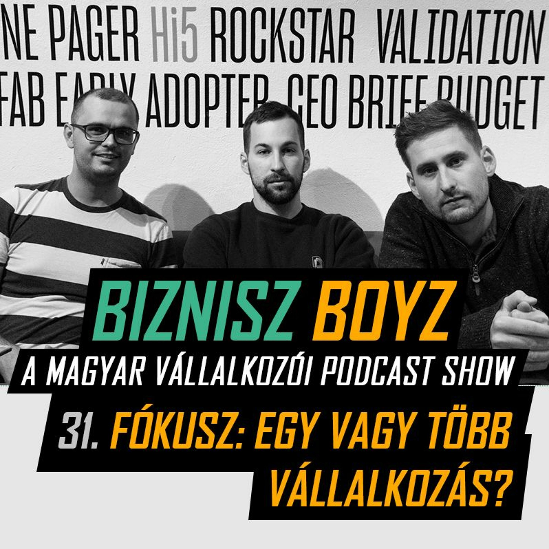 31. Fókusz vs. több lábon állás - Egyszerre egy vagy több vállalkozás? | Biznisz Boyz Podcast