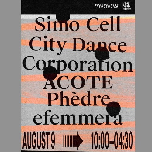 Phedre Live PA Set Aug 9.19 On Earth x Frequencies