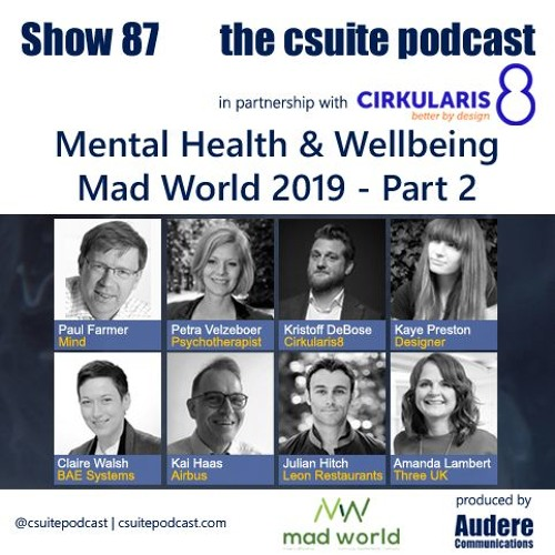 Show 87 - Mental Health & Wellbeing from Mad World 2019 - Pt.2
