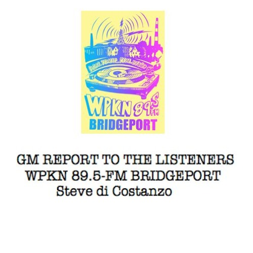 GM Report to the Listeners - Elinor Slomba, New Haven CWOS