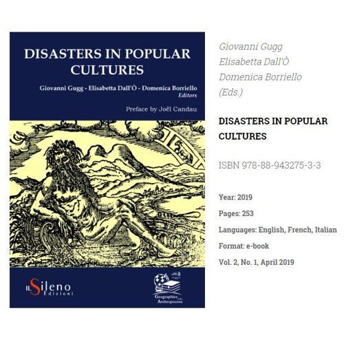 4 Agosto | Disasters In Popular Cultures Su Radio Marconi FM 94.8