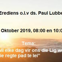 Jesus wil ons lig wees om ons op die regte pad te lei 13 Oktober 2019