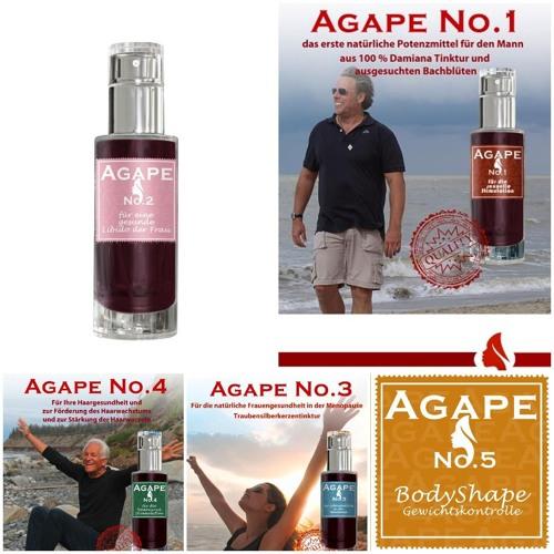 AGAPE No. 1 - 5 Natürliche Produkte für die Liebe und das Well Being