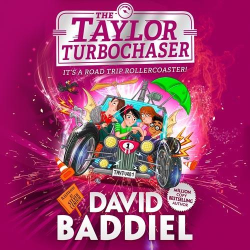 The Taylor TurboChaser, By David Baddiel, Read by David Baddiel, Iestyn Arwel, Morwenna Banks, Freddie Gaminara, Sartaj Garewal, Aysha Kala, Paul Panting, Hannah Raynor, David Rintoul and Sid Sagar