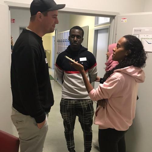 Podcast Boussa Thiam mit Campus Schüler*innen