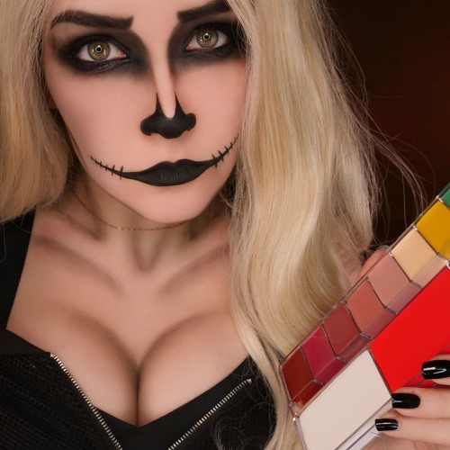 👻 ASMR Makeup Skeleton on Halloween 🎃
