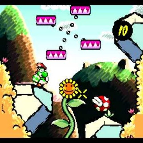 Yoshi's Island Flower Garden but it has HIV