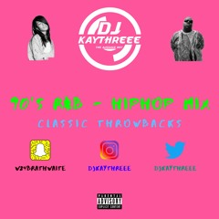 90's R&B - HipHop Mix Classic Throwbacks   Mixed By @DjKayThreee