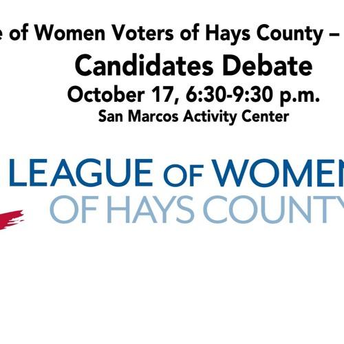 LWV-Hays-Co-Debate-San-Marcos-2019-10-17-18-50-26