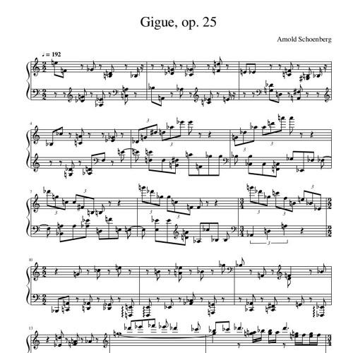 Schoenberg: op.25 5. Gigue