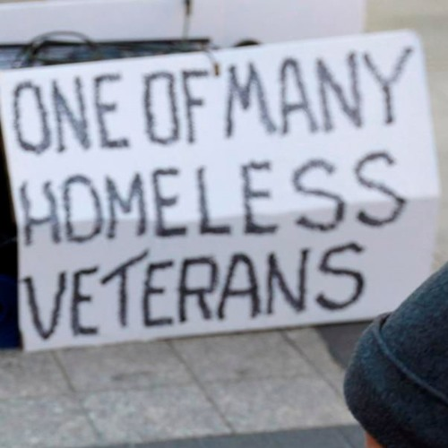 A Cardboard Sign Marked Veteran Master