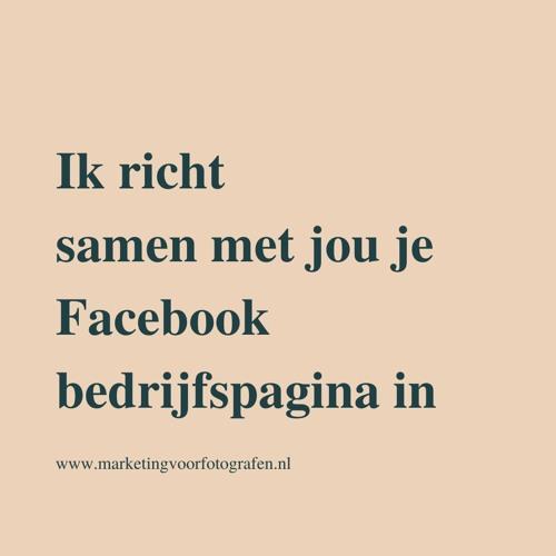 Ik richt samen met jou je Facebook businesspagina in
