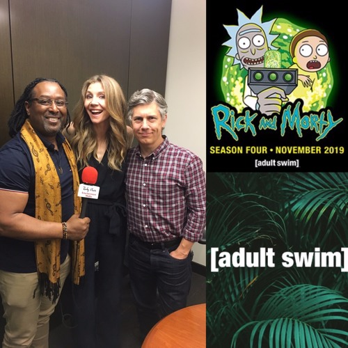 Interview w Sarah Chalke & Chris Parnell on animated series Rick and Morty Season 4 on Adult Swim