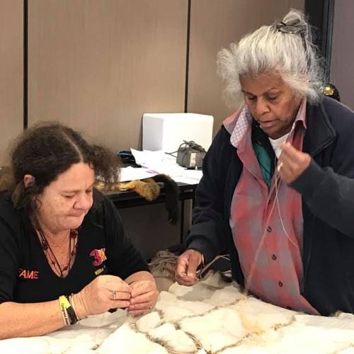 Aunty Esther Kirby bringing community together to teach possum skin cloak making