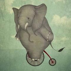 84. Den  cyklande elefanten