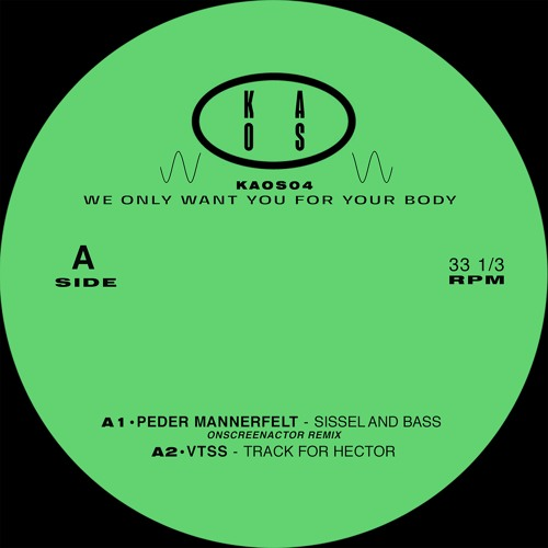 Peder Mannerfelt / VTSS / Hadone / Ascion - WE ONLY WANT YOU FOR YOUR BODY - KAOS04