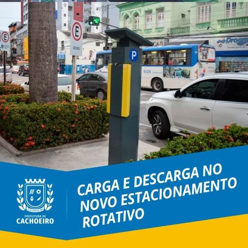 Carga e descarga no novo estacionamento rotativo