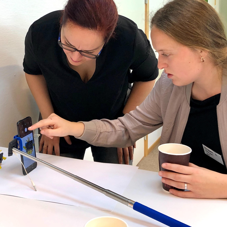 Samtale om FutureLab på UiT m. studentassistent Elisabeth Dahl Olafsen