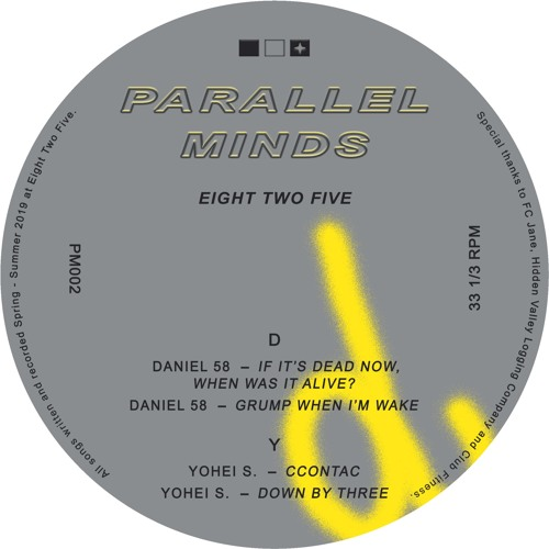 Parallel Minds 002 - Daniel 58 & Yohei S. - Eight Two Five EP